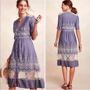 Anthropologie Moulinette Soeurs Chambray Dress
